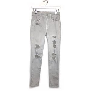 American Eagle Hi Rise Jegging Distressed Ripped 6